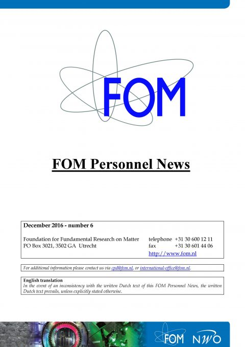 FOM Personnel News December 2016