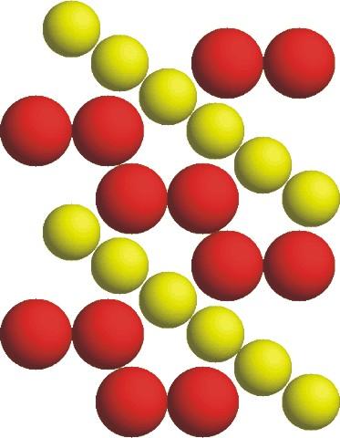 Figuur 2. Template voor kristalgroei