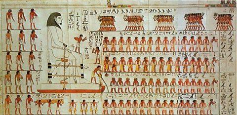 Figuur 2. Wandtekening uit de tombe van Djehoetihotep